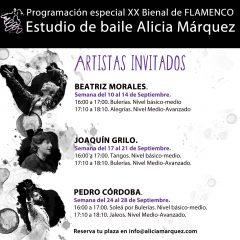 Artistas invitados Septiembre